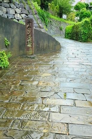 長崎,雨のオランダ坂の写真素材 [FYI02097235]