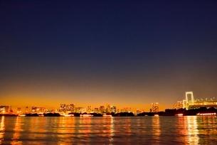 台場公園より品川方面の都心ビル群夜景の写真素材 [FYI02097386]
