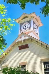 札幌,新緑の時計台の写真素材 [FYI02097496]