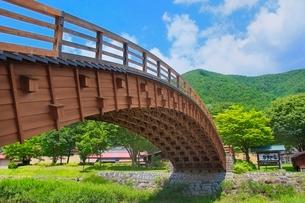 奈良井宿 木曽の大橋の写真素材 [FYI02097692]