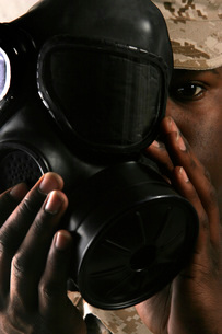 Nuclear, Biological, and Chemical Defense training.の写真素材 [FYI02098685]