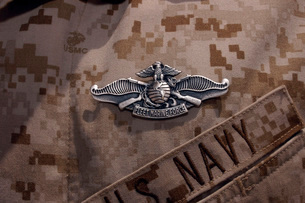 The Enlisted Fleet Marine Force Warfare Specialist pin.の写真素材 [FYI02098876]