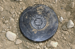 A simulated land mine.の写真素材 [FYI02098980]