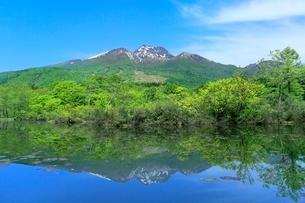 いもり池と妙高山の写真素材 [FYI02099090]