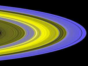 False-color image of Saturn's rings.の写真素材 [FYI02099235]