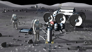 Artist's rendering of future space exploration missions.の写真素材 [FYI02099255]