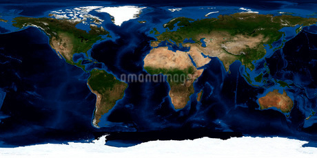 Topographic & bathymetric shading of full earth.の写真素材 [FYI02099506]