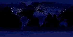 Global View of Earth's City Lightsの写真素材 [FYI02099515]