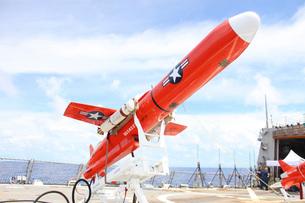 A BQM-74E Chukar drone ready for launch.の写真素材 [FYI02099579]