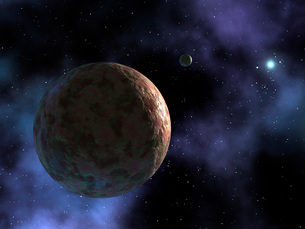 The newly discovered planet-like object, dubbed Sedna, is shの写真素材 [FYI02099620]