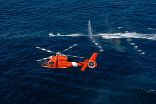 A helicopter crew trains off the coast of Jacksonville, Florの写真素材 [FYI02099621]