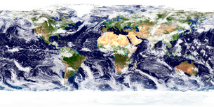True-color image of the entire Earth.の写真素材 [FYI02099796]