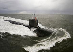 Virginia-class attack submarine Pre-Commissioning Unit New Mの写真素材 [FYI02099864]