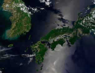 North and South Korea, and the Japanese island of Shikoku.の写真素材 [FYI02099935]