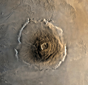 The largest known volcano in the solar system, Olympus Mons.の写真素材 [FYI02100042]