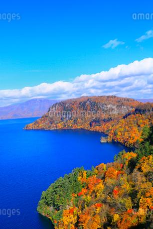 十和田湖の紅葉の写真素材 [FYI02100367]