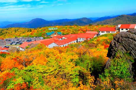 栗駒山 須川温泉の紅葉の写真素材 [FYI02100437]