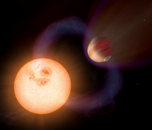 An artist's impression of a unique type of exoplanet.の写真素材 [FYI02100464]