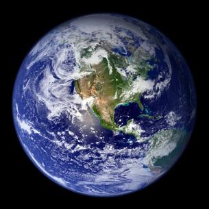 Earth showing the western hemisphere.の写真素材 [FYI02100483]
