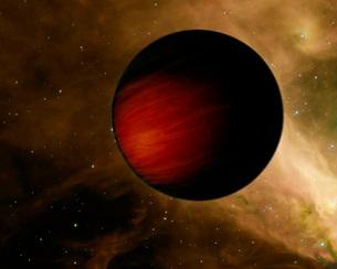 Illustration of a hot Jupiter called HD 149026b.の写真素材 [FYI02100491]