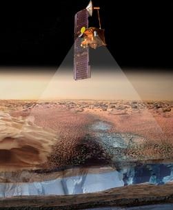 Artist's View of Odyssey Detecting Ice.の写真素材 [FYI02100558]