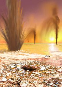 The Martian south polar ice cap as southern spring begins.の写真素材 [FYI02100569]