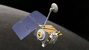 Artist's concept of the Lunar Reconnaissance Orbiter.の写真素材 [FYI02100589]