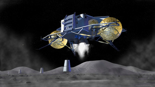 Artist's rendering of future space exploration missions.の写真素材 [FYI02100594]