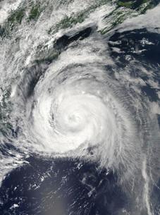 Hurricane Bill off the East Coastの写真素材 [FYI02100650]