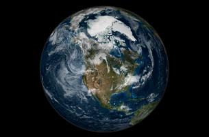 Full Earth showing North America.の写真素材 [FYI02100660]