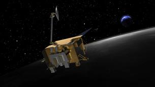 Artist Concept of the Lunar Reconnaissance Orbiterの写真素材 [FYI02100740]