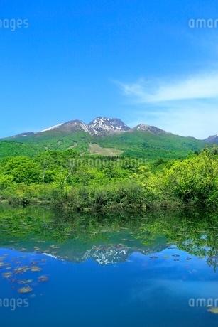 いもり池と妙高山の写真素材 [FYI02100762]