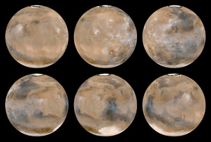 A Mid-Northern Summer/Southern Winter on Mars.の写真素材 [FYI02100787]