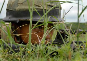 An infantryman with the Royal Thai Marines.の写真素材 [FYI02100818]