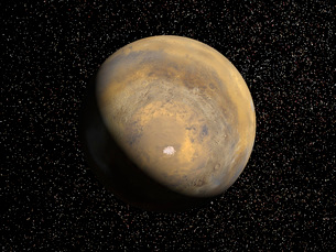 Global view of Marsの写真素材 [FYI02100831]