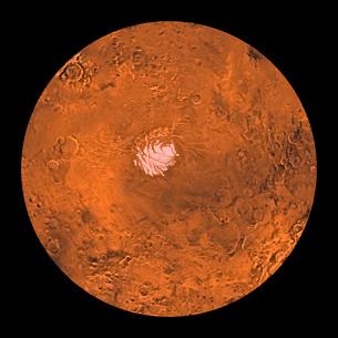 Mare Australe region of Mars.の写真素材 [FYI02100859]