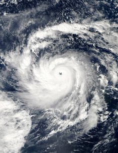 Typhoon Nida in the Pacific Ocean.の写真素材 [FYI02100898]