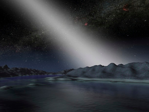 The night sky from a hypothetical alien planet.の写真素材 [FYI02100913]
