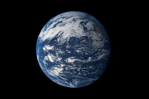 Full Earth centered over the Pacific Ocean.の写真素材 [FYI02100942]