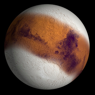 Simulated view of Mars.の写真素材 [FYI02100981]
