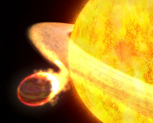The hottest known planet in the Milky Way, called WASP-12b,の写真素材 [FYI02101005]