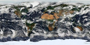 Detailed satellite view of Earth.の写真素材 [FYI02101211]