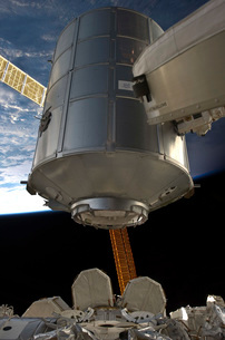 The Permanent Multipurpose Module in the grasp of Canadarm2.の写真素材 [FYI02101263]