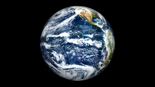 View of Full Earth centered over the Pacific Ocean.の写真素材 [FYI02101281]