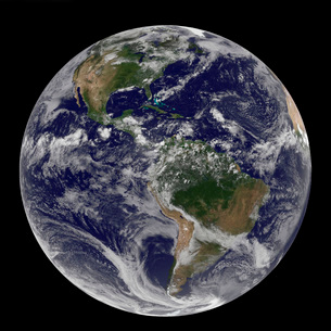 Full Earth showing North America and South America.の写真素材 [FYI02101411]