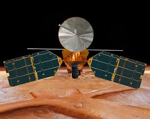 Artist's concept of the Mars Reconnaissance Orbiter.のイラスト素材 [FYI02102396]