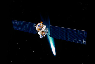 Satellite in outer space.の写真素材 [FYI02102518]