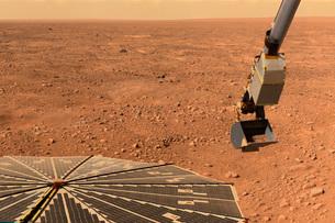 Phoenix Mars Lander's solar panel and the lander's Robotic Arm wの写真素材 [FYI02102524]
