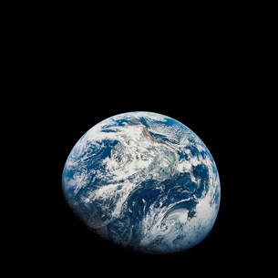 View of Earth taken from the Aollo 8 spacecraft.の写真素材 [FYI02102624]