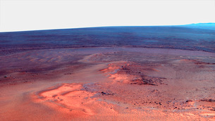 False color mosaic of Greeley Haven on Mars.の写真素材 [FYI02102627]